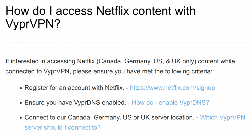 Accessing Netflix with VyprVPN