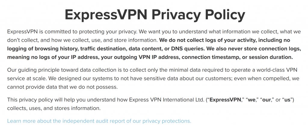 ExpressVPN Logs Policy