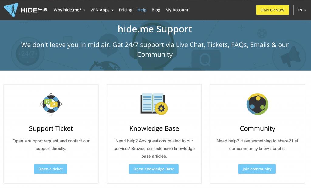 HIdeMe Support