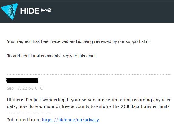 HideMe Response