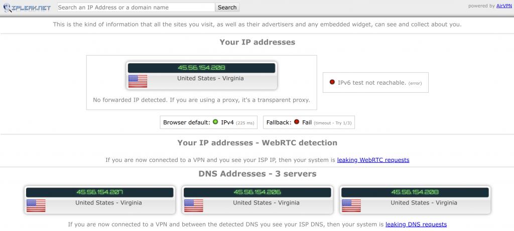 IP Leak Detection