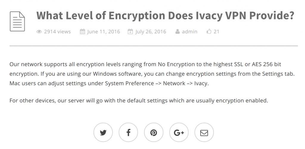Ivacy Encryption