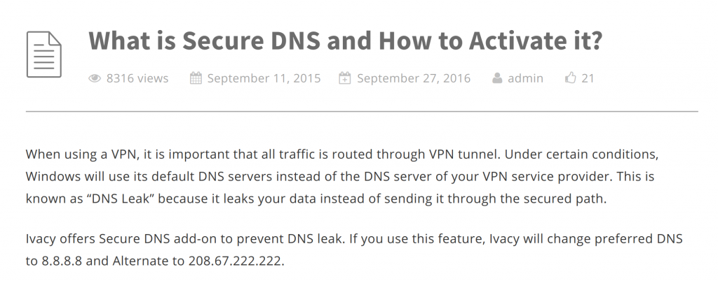 Ivacy Secure DNS
