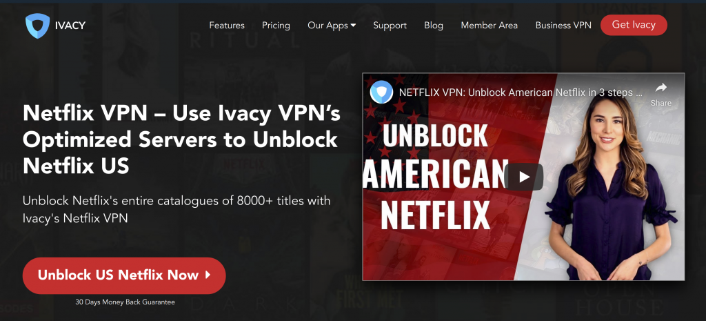 Ivacy Unblock Netflix