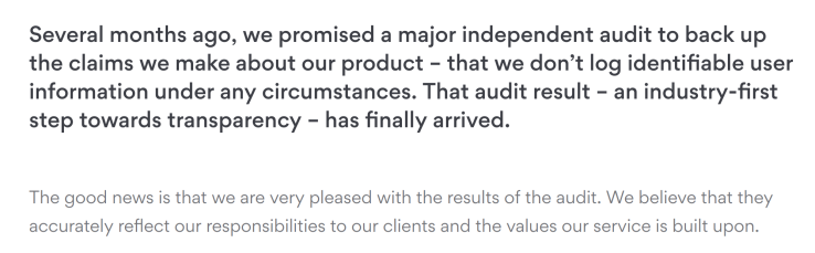 NordVPN Audit