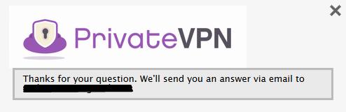 PrivateVPN Livechat