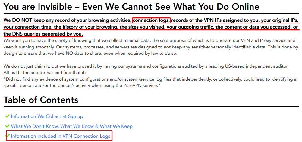 PureVPN Privacy Policy