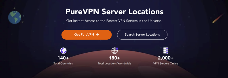 PureVPN Server Locations