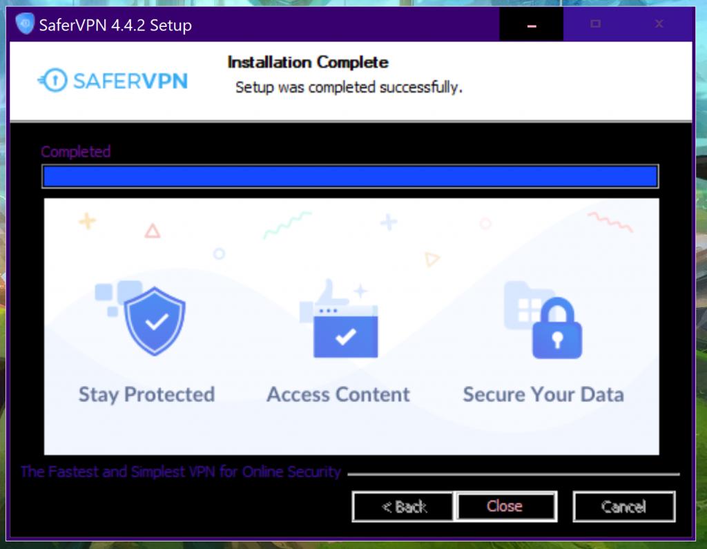 SaferVPN Installed