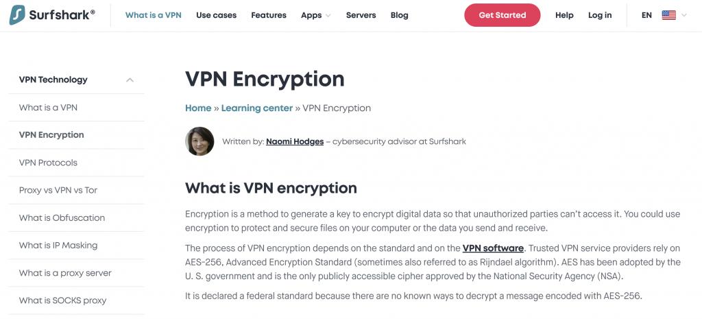 Surfshark Encryption