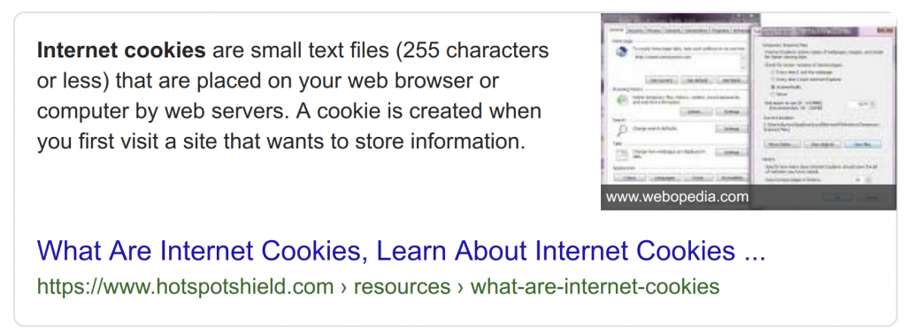 What Are Cookies Google Search