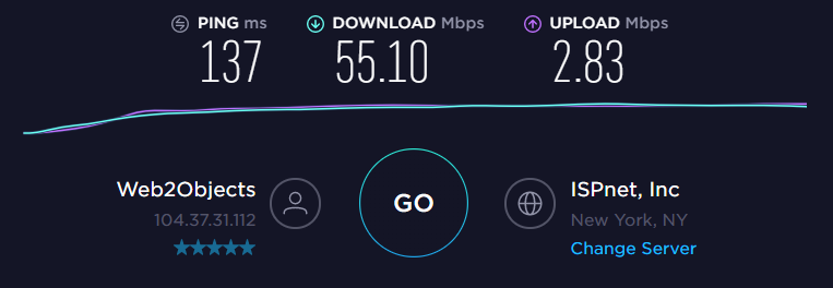 ExpressVPN US Server Speed