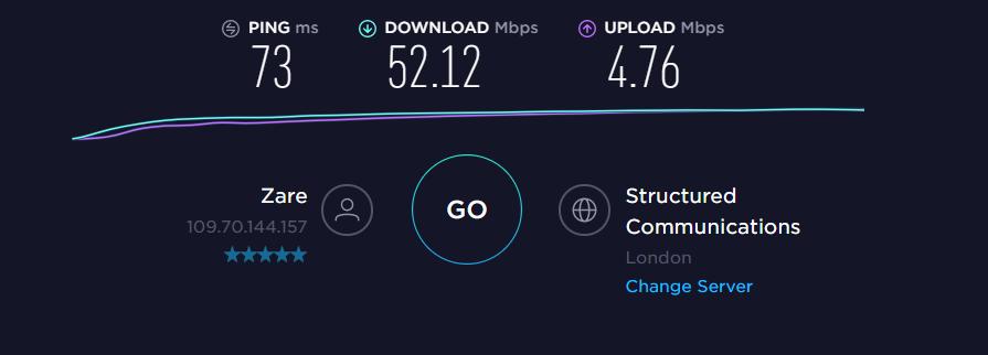 NordVPN UK Server Speed