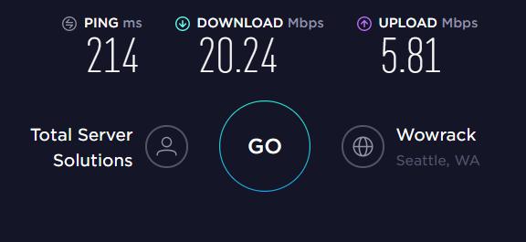 PureVPN US Server Speed