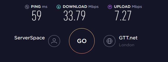 SaferVPN UK Server Speed