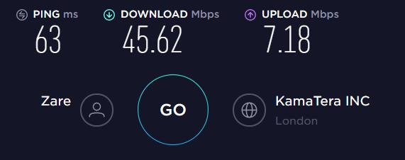 Surfshark UK Server Speed