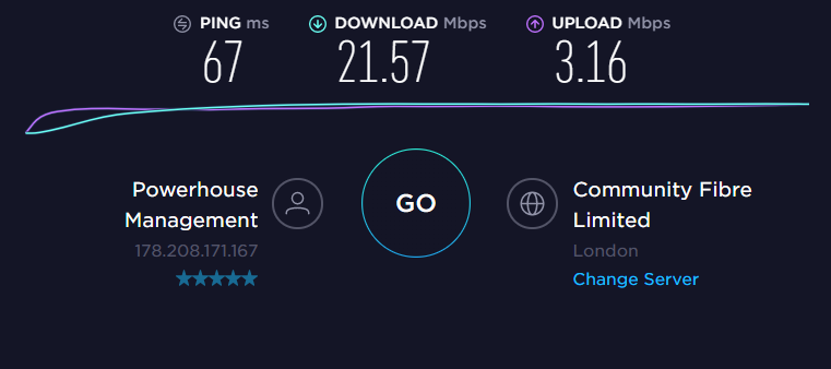 VyprVPN UK Server Speed
