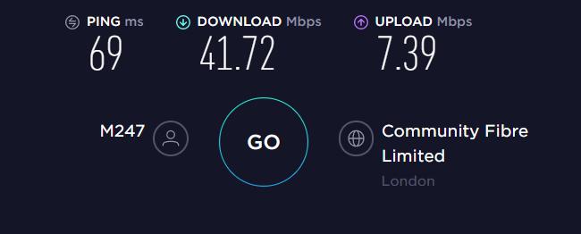 Mullvad VPN UK Server Speed
