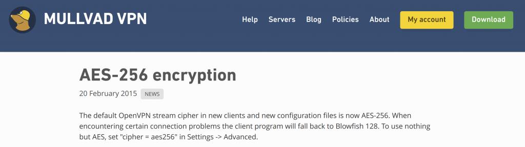 Mullvad VPN OpenVPN Protocol