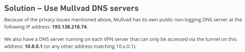 Mullvad VPN DNS Leak