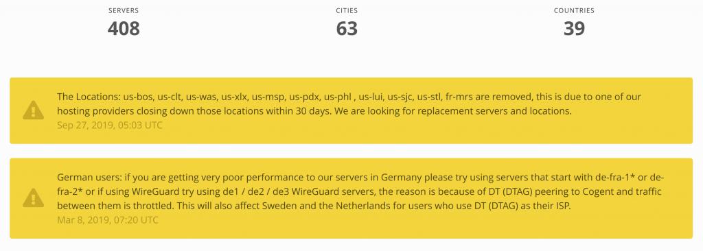 Mullvad VPN Servers