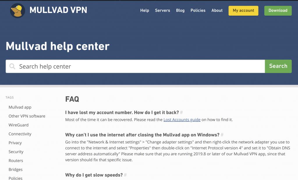 Mullvad VPN Help Center