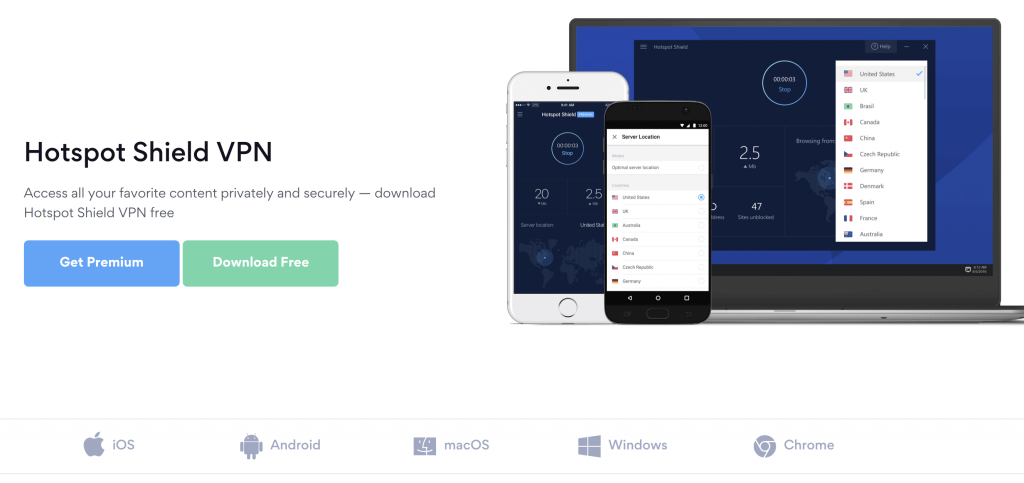 HotSpot Shield Device Compatibility