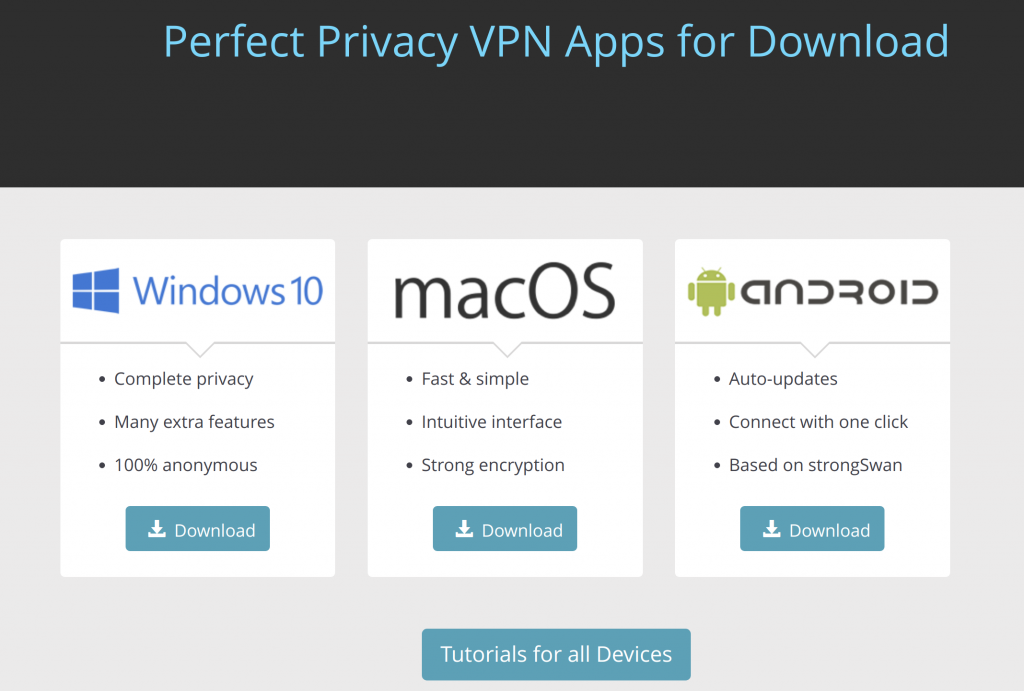 Perfect Privacy Apps