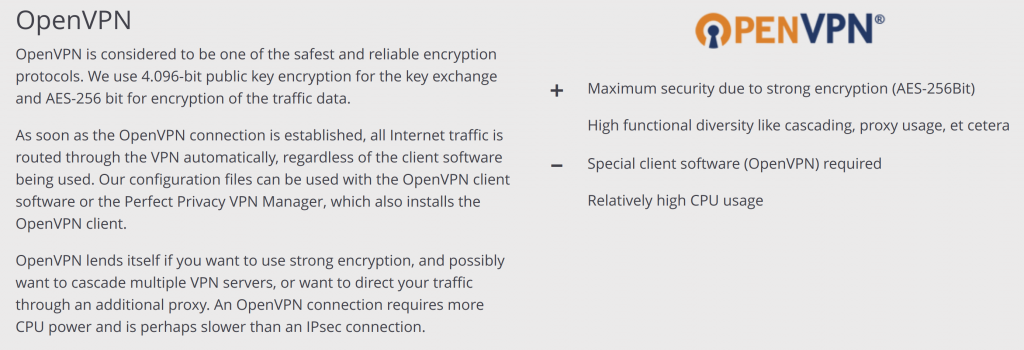Perfect Privacy OpenVPN and Encryption
