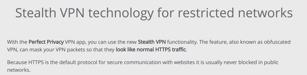 Perfect Privacy Stealth VPN