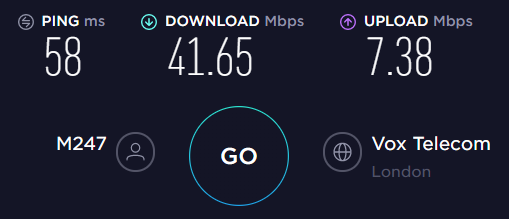 AirVPN UK Server Speed