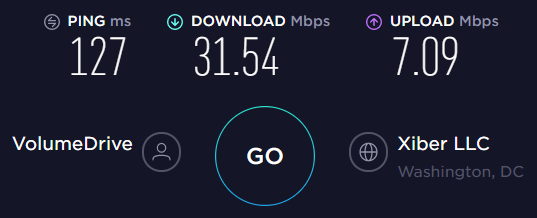 AirVPN US Server Speed