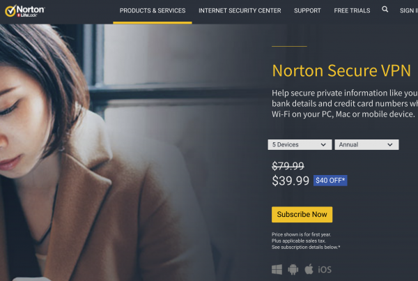 Norton Secure VPN Homepage