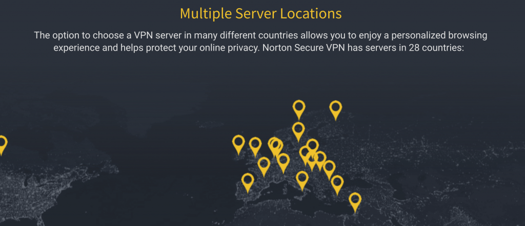 Norton Secure VPN Server Network