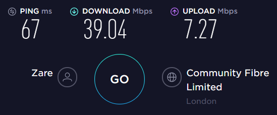 ProtonVPN UK Server Speed