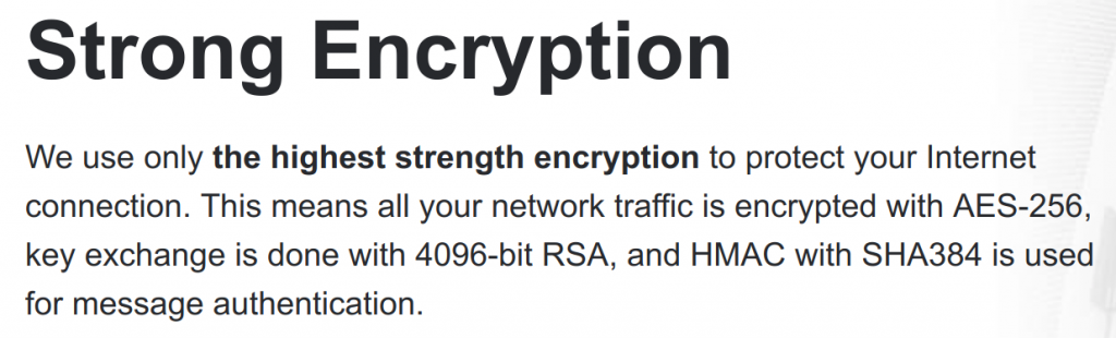 ProtonVPN encryption