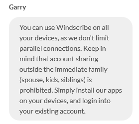 Unlimited Connections Windscribe