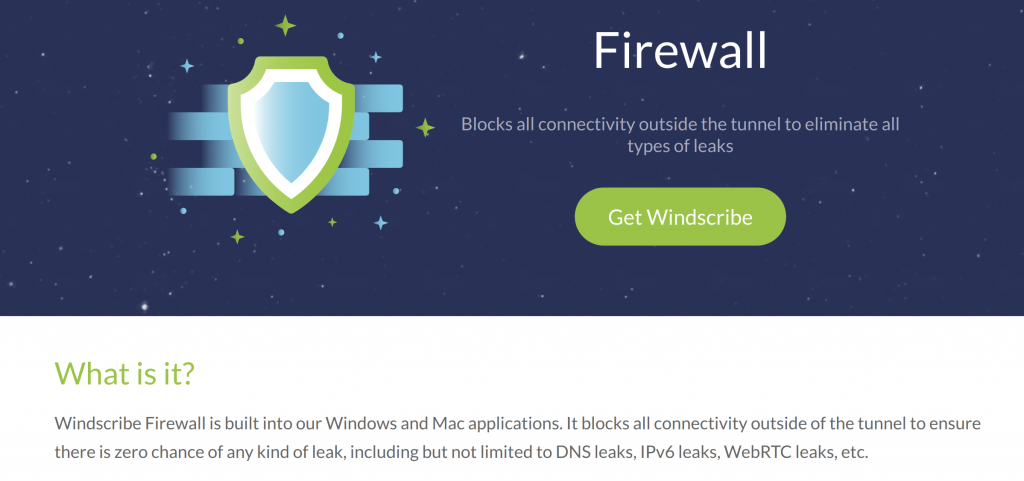 Windscribe Firewall