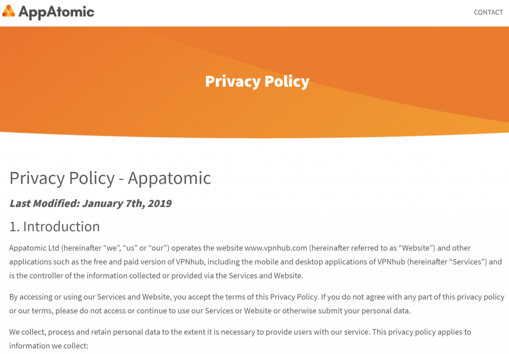 AppAtomic Privacy P