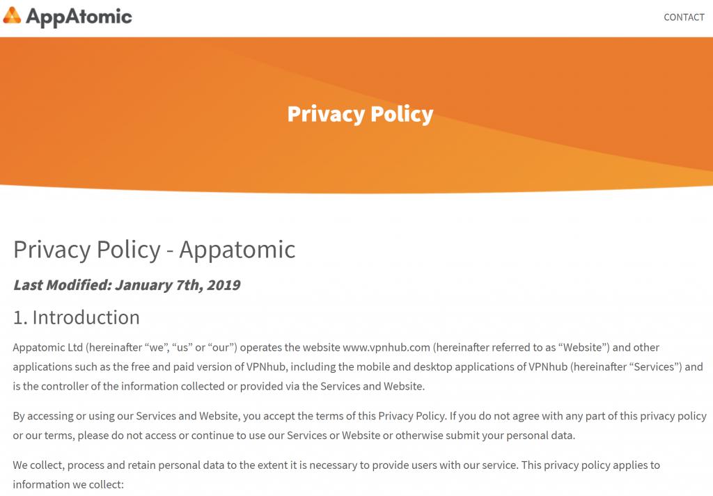 AppAtomic Privacy P