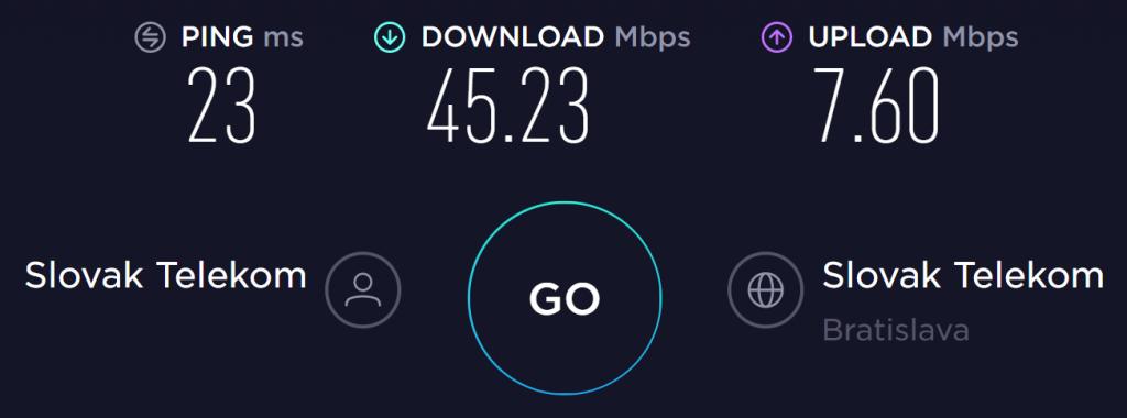 BlackVPN No VPN Speed