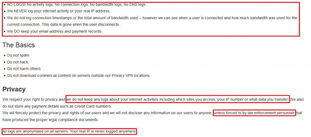 BlackVPN Privacy Policy
