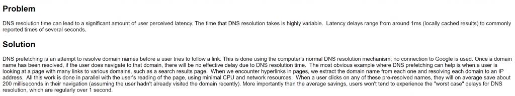 DNS Pre Fetching