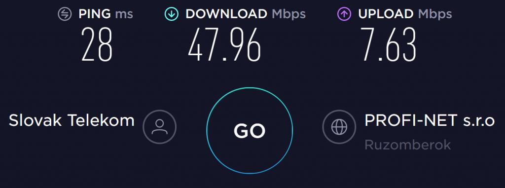 Goose VPN No VPN Speed