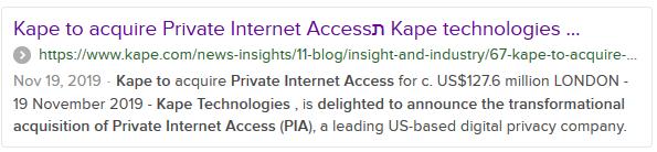 Kape Technologies Meta Description