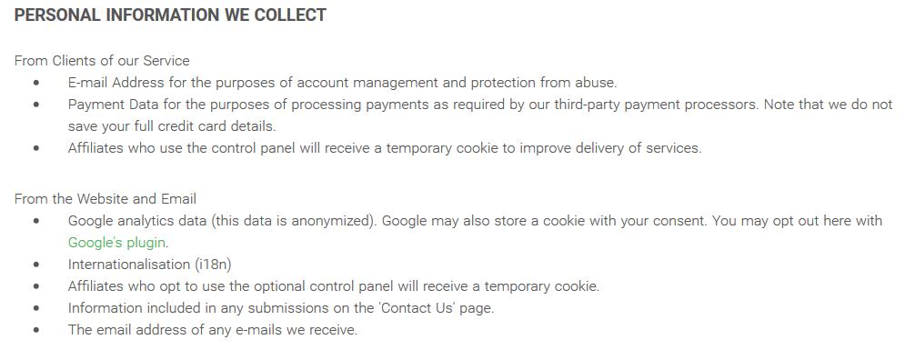 PIA Privacy Policy