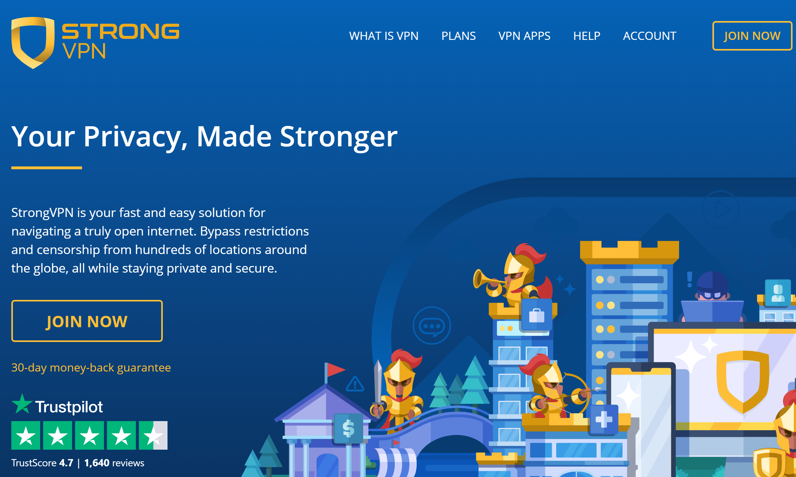 StrongVPN Homepage