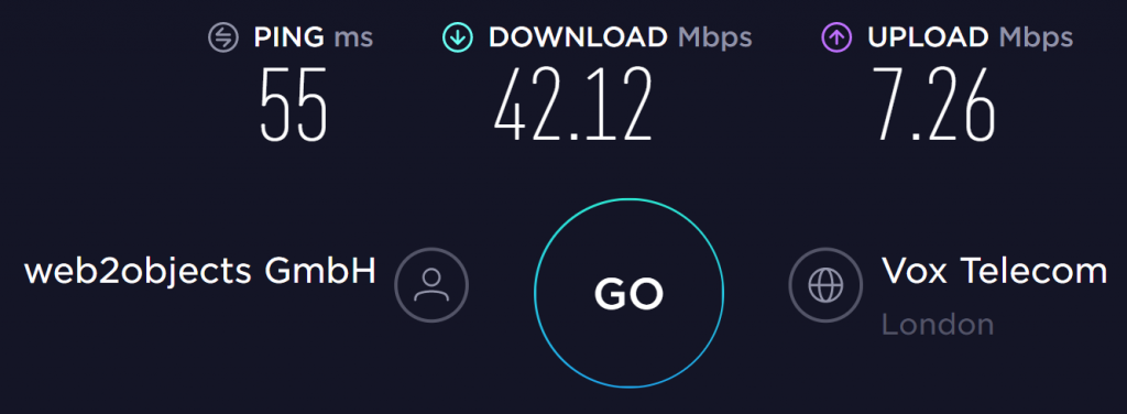 StrongVPN UK Server Speed