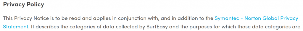 SurfEasy privacy policy 2