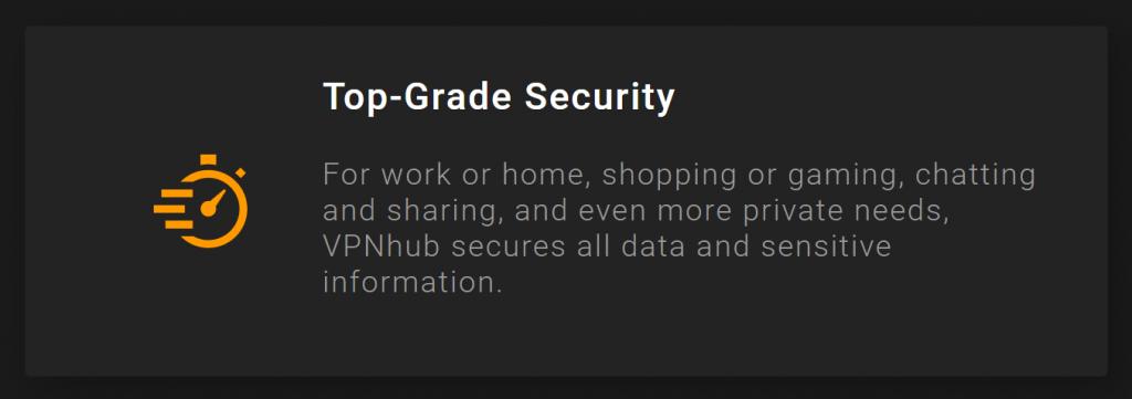 VPNhub encryption